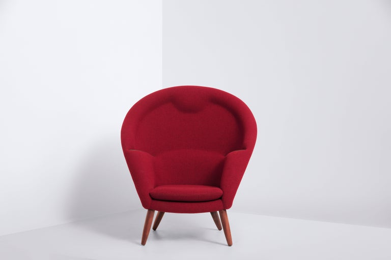 Lounge Chair Designed by Nanna and Jørgen Ditzel in 1956, Danish Produced 1950s 2