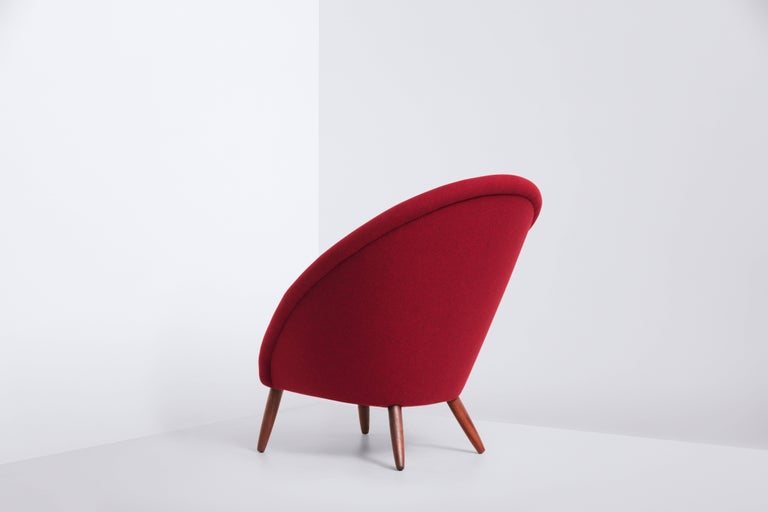 Mid-Century Modern Lounge Chair Designed by Nanna and Jørgen Ditzel in 1956, Danish Produced 1950s For Sale