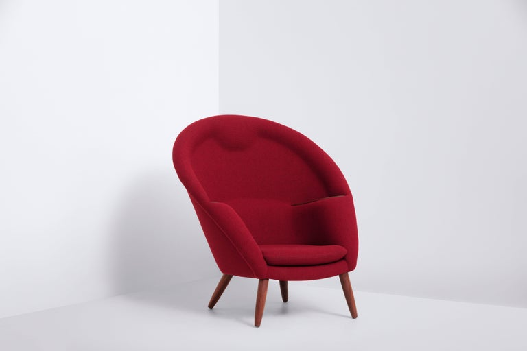 Lounge Chair Designed by Nanna and Jørgen Ditzel in 1956, Danish Produced 1950s In Good Condition For Sale In Copenhagen, DK