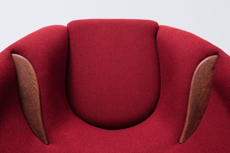 Mid-20th Century Lounge Chair Designed by Nanna and Jørgen Ditzel in 1956, Danish Produced 1950s For Sale