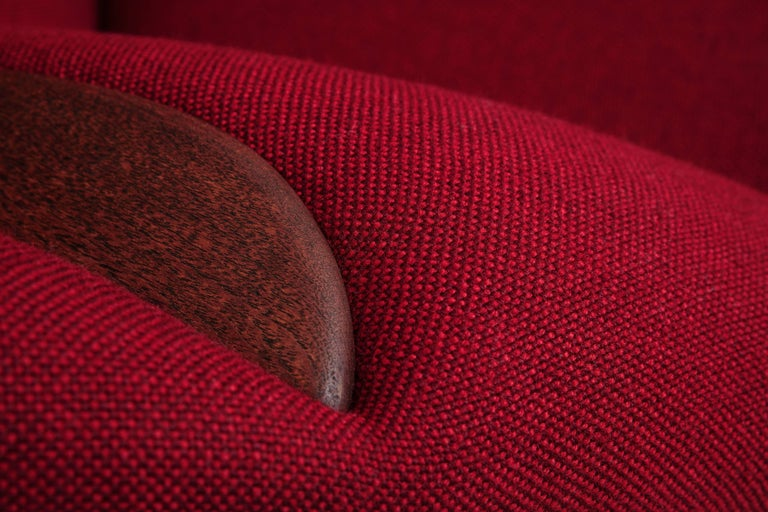 Wool Lounge Chair Designed by Nanna and Jørgen Ditzel in 1956, Danish Produced 1950s For Sale
