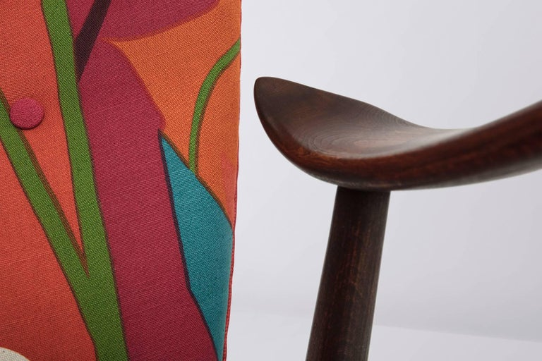 Stained Danish Lounge Chair Designed by Madsen & Schubell, 1950s For Sale
