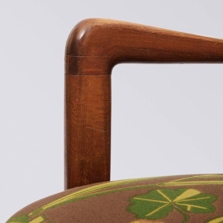 Fritz Hansen, Wingback Lounge Chair, Floral Upholstery, by Gocken Jobs, 1950s 3