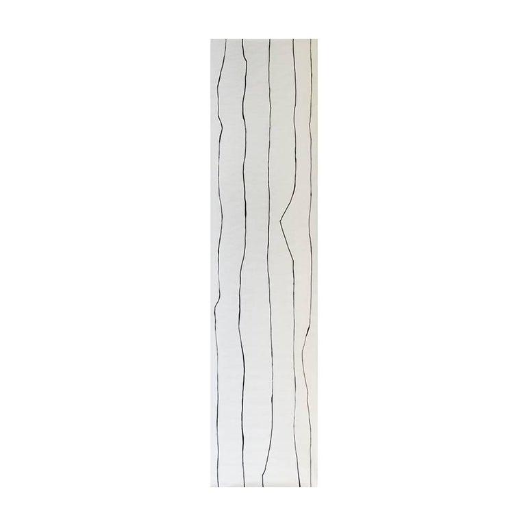Unique Black And White Linework Contemporary Wallpaper For