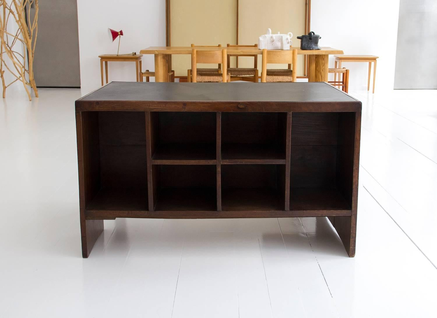 Etonnant Pierre Jeanneret Office Desk For Chandigarh, Wood And Leather, Circa 1950,  India