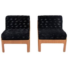 Pair of Armchairs Designed by Isamu Kenmochi, Manufactured in Tendo Mokko, 1960s