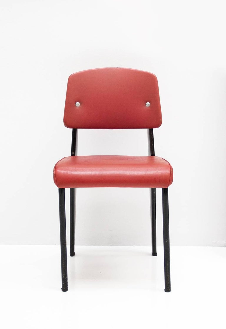 Standard Chair Designed by Jean Prouve, circa 1950, France 2