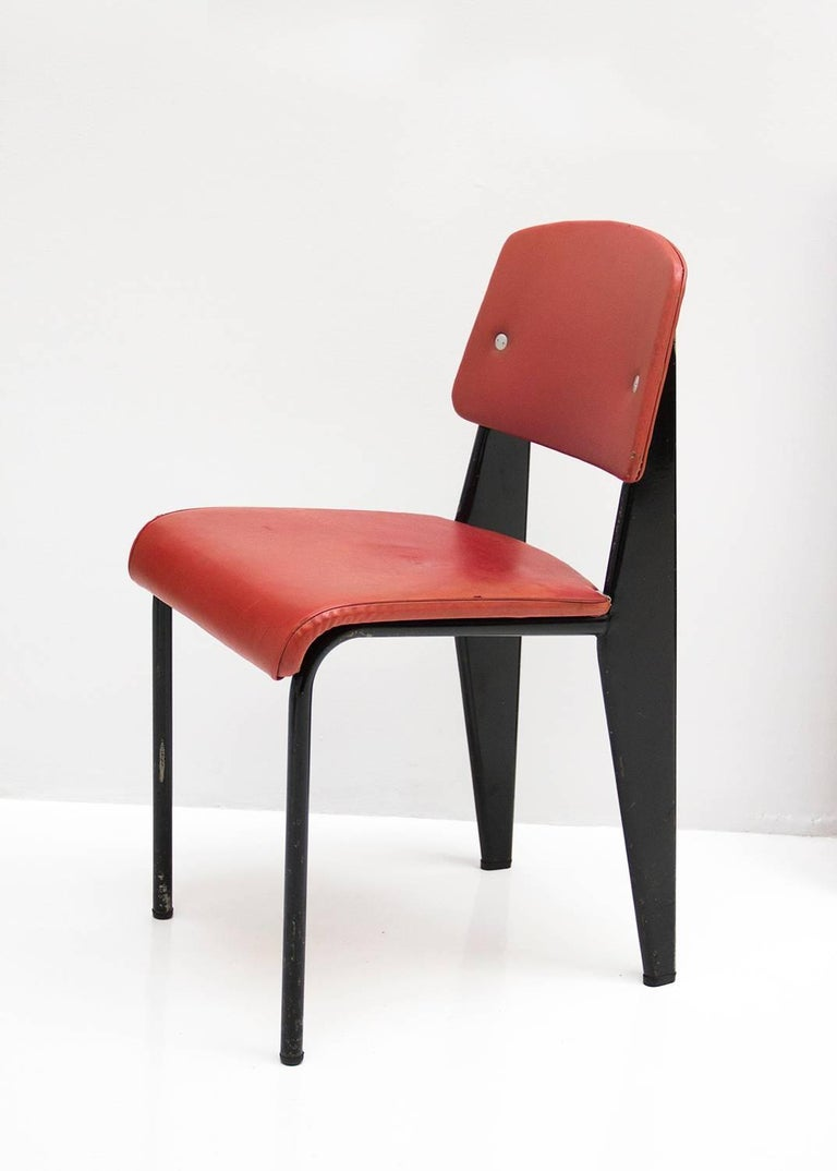 Standard Chair Designed by Jean Prouve, circa 1950, France 3