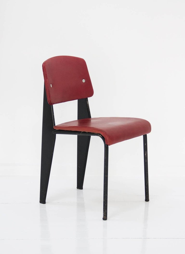 Standard Chair Designed by Jean Prouve, circa 1950, France 6