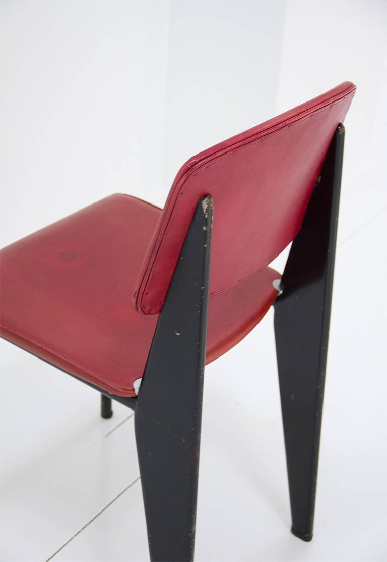 Standard Chair Designed by Jean Prouve, circa 1950, France 8