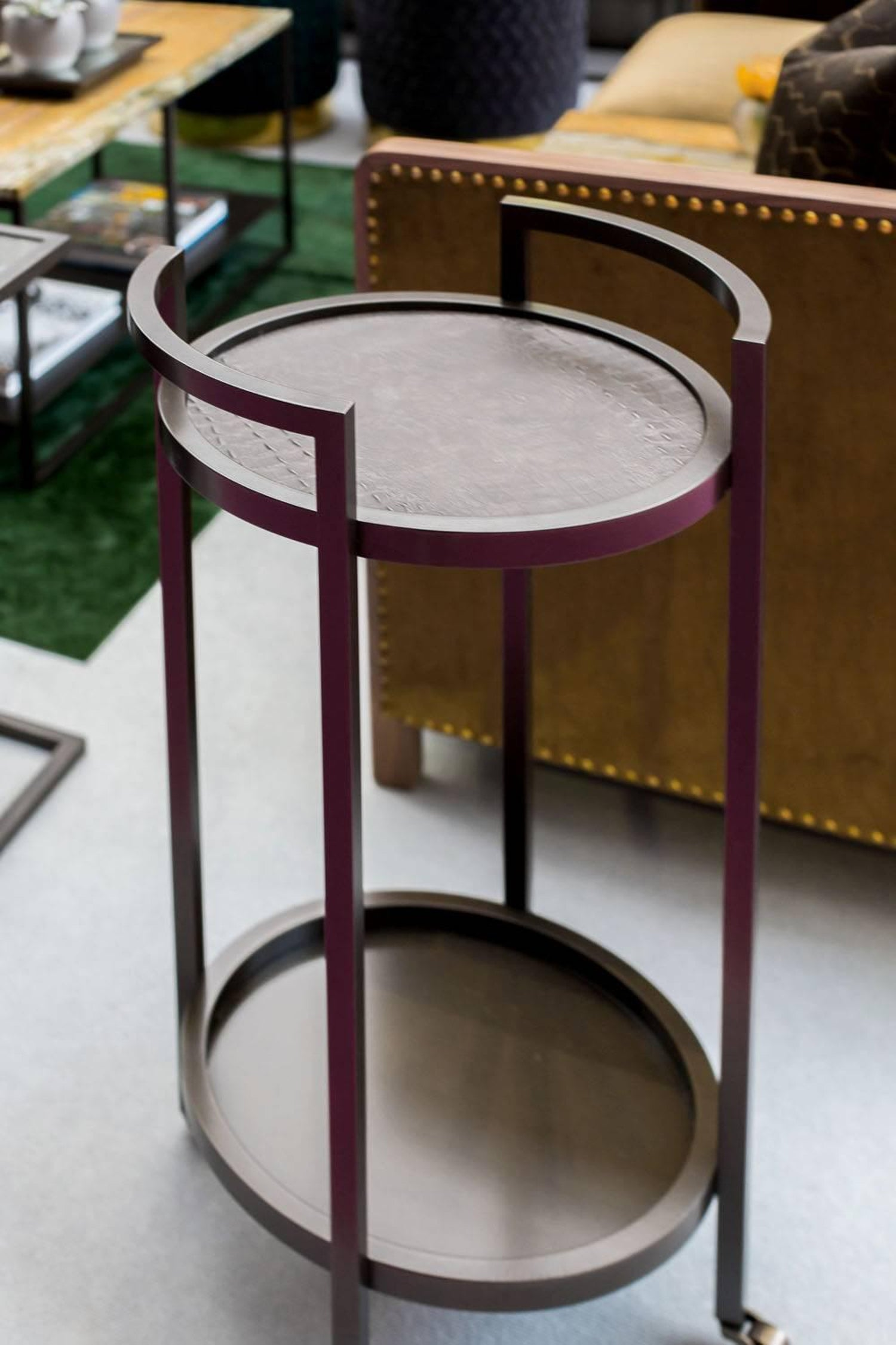 Art Deco Diana Drinks Trolley In Steel Powder Coated And