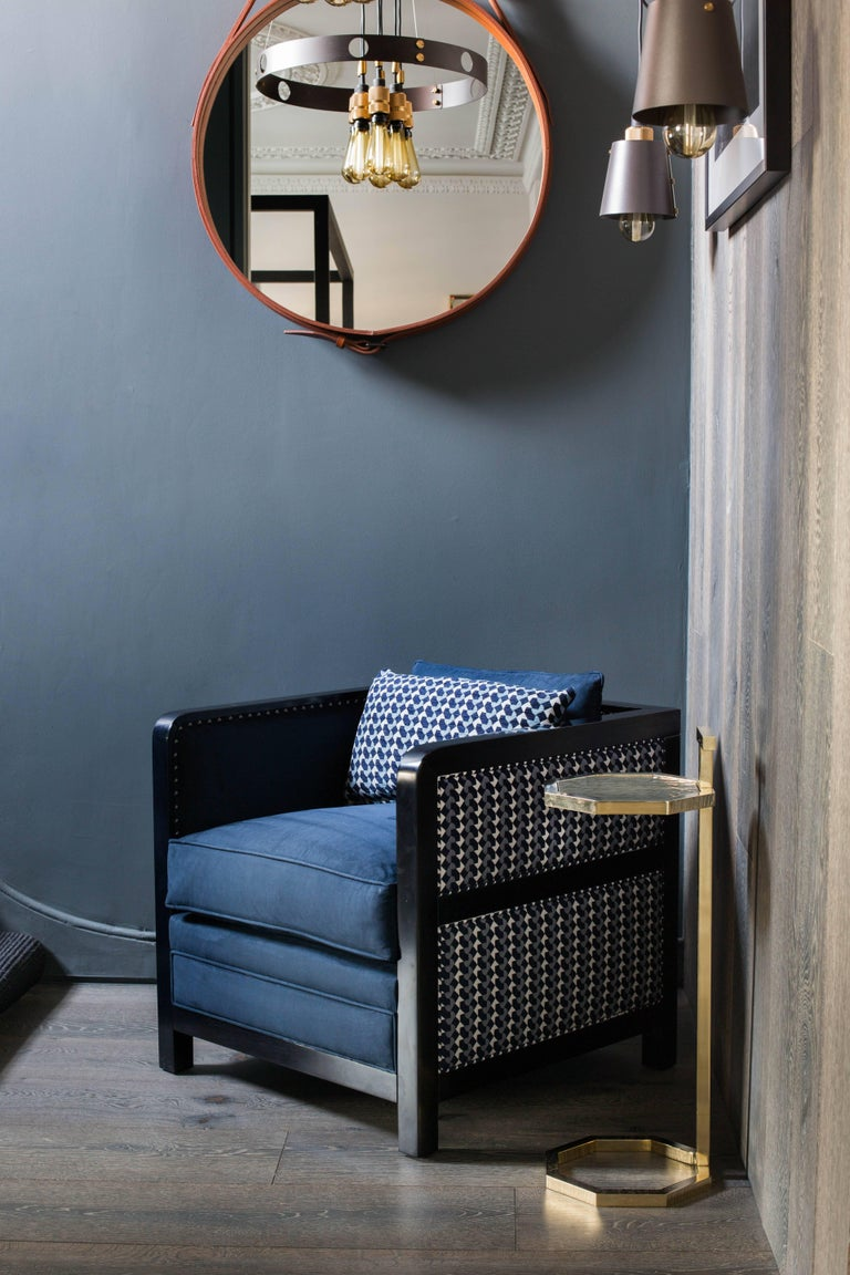 Art Deco Bacco Deconstructed Armchair in Novasuede and Belo fabric - SHOWROOM In Excellent Condition For Sale In London, GB