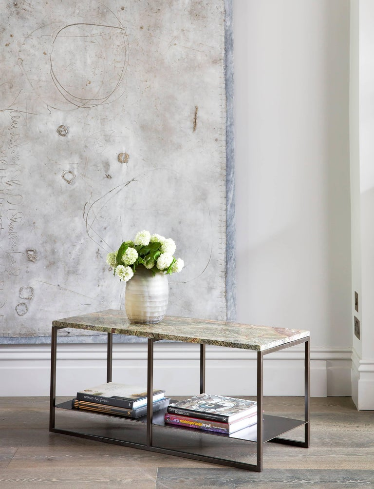The Eros coffee table has an effect of desirability; it seduces you with its powerful, masculine structure and sleek design; a characteristic that is representative of the Roman god it was named after. This strength of the steel powder-coated base
