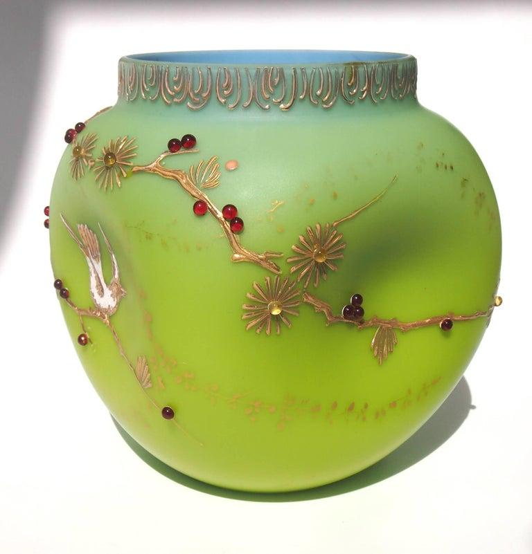 Loetz Victorian Alpengruen Vase For Sale At 1stdibs