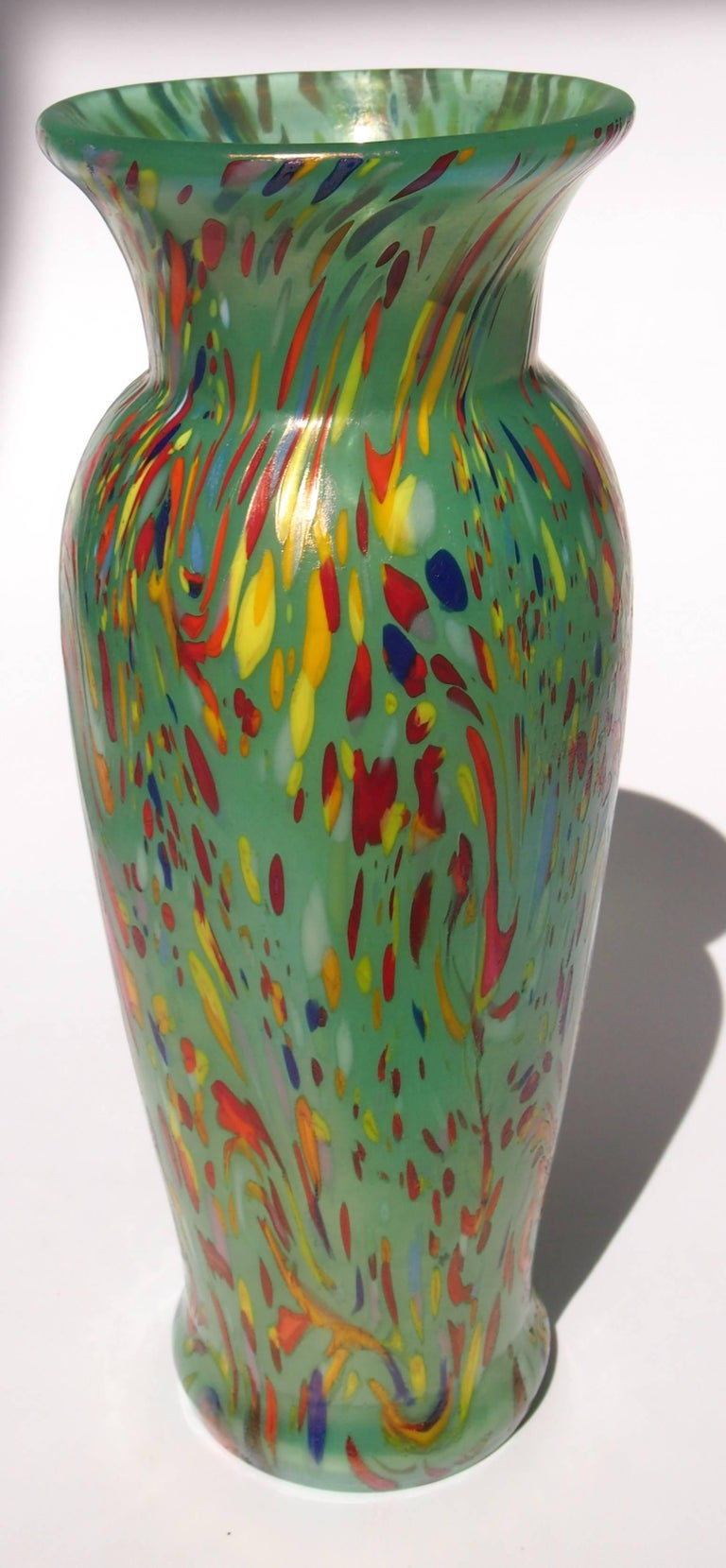 Loetz art deco green speckled ausfhrung 237 vase at 1stdibs one of the most fun and popular loetz patterns ausfhrung 237 speckled colors on jade reviewsmspy