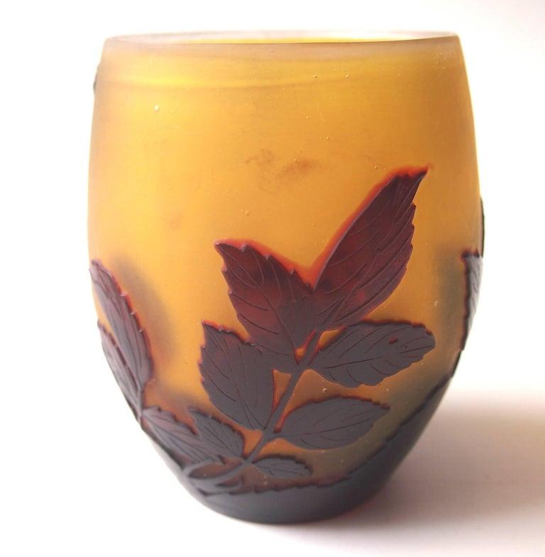 Art Nouveau Emile Galle Cameo Glass Bowl Vase For Sale At 1stdibs