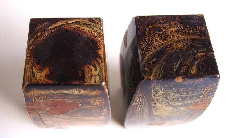 Pair of Art Nouveau Riedel Lithyalin Barrel Vases For Sale 1