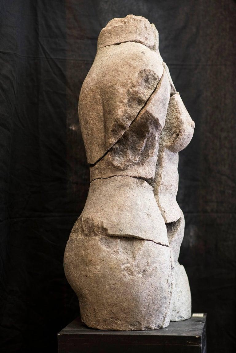 Classical Greek S XX  Granite  Torso Spanish sculpture , Signed For Sale