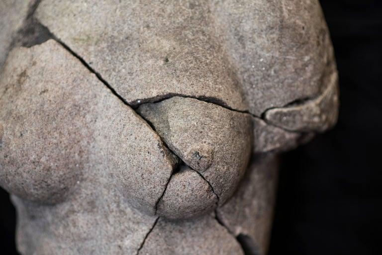 S XX  Granite  Torso Spanish sculpture , Signed For Sale 2