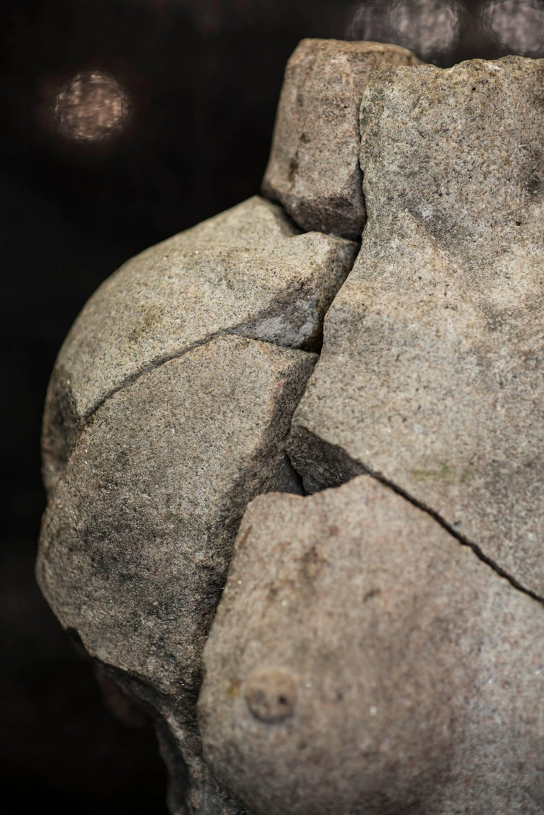 S XX  Granite  Torso Spanish sculpture , Signed For Sale 3