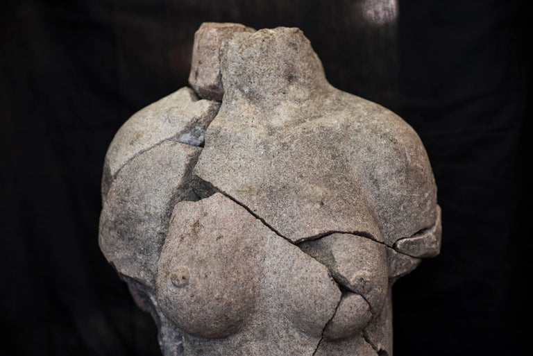 S XX  Granite  Torso Spanish sculpture , Signed For Sale 4