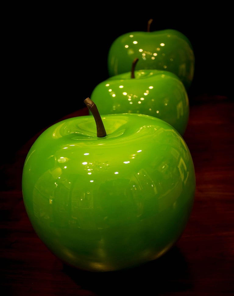 Other Midcentury green Fiberglass Danish Apples  Collection, 60s For Sale