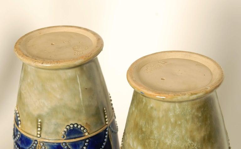British Art Nouveau Royal Doulton Stoneware Vases For Sale