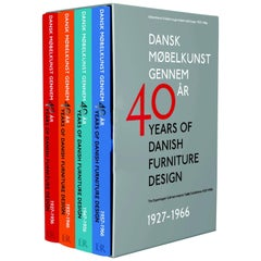 40 Years of Danish Furniture Design Set of Four Books by Grete Jalk