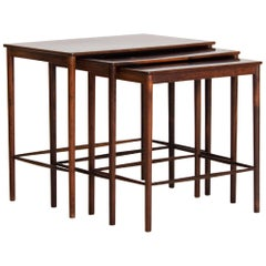 Midcentury Rosewood Nesting Tables by Kaj Winding, Denmark, 1960s