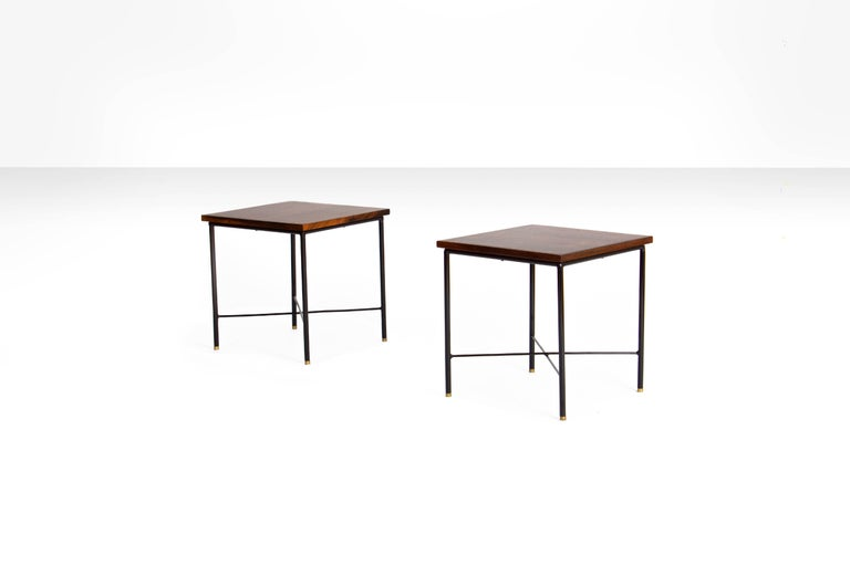 Mid-Century Modern Pair of Side Tables by Geraldo de Barros, Brazil, 1960s For Sale