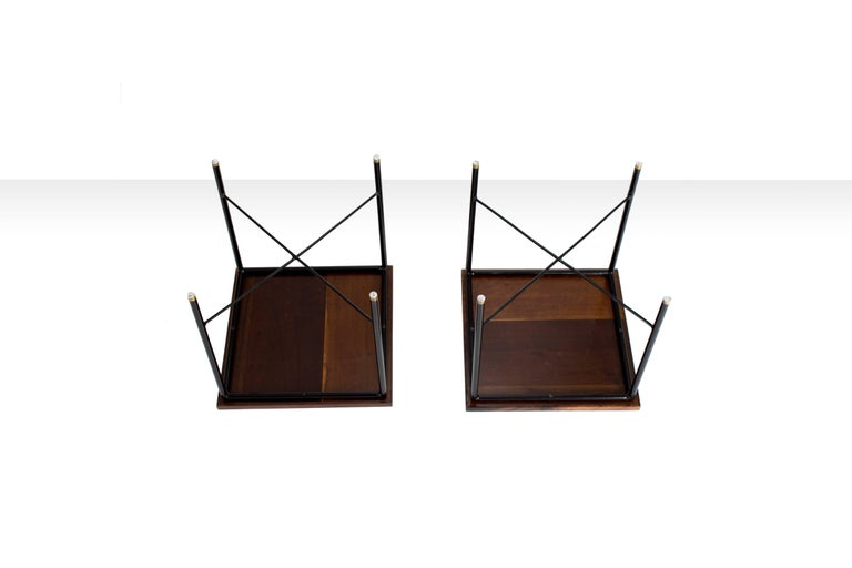 Mid-20th Century Pair of Side Tables by Geraldo de Barros, Brazil, 1960s For Sale