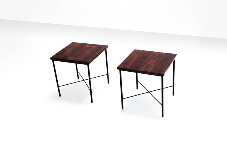 Brazilian Pair of Side Tables by Geraldo de Barros, Brazil, 1960s For Sale