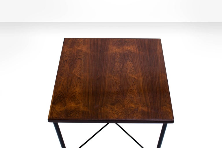 Veneer Pair of Side Tables by Geraldo de Barros, Brazil, 1960s For Sale