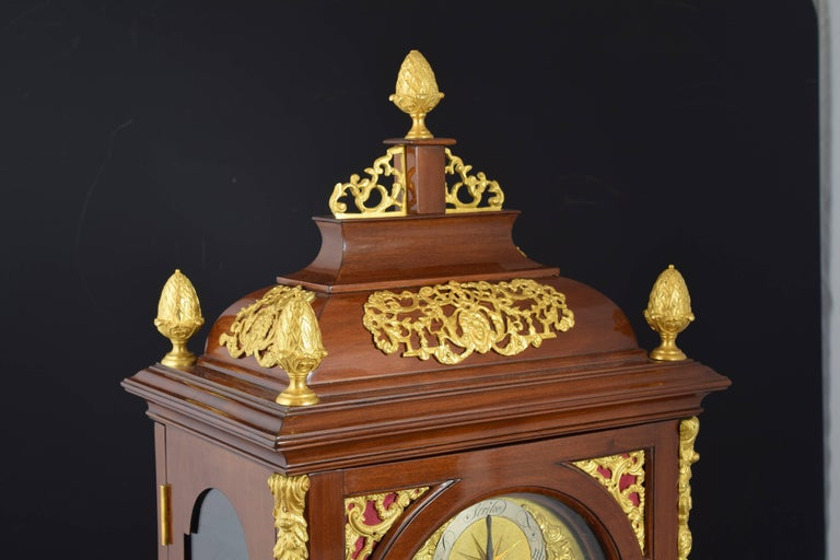 18th Century and Earlier Desktop Bracket Clock, John Drury, London, 1720- 1774 For Sale
