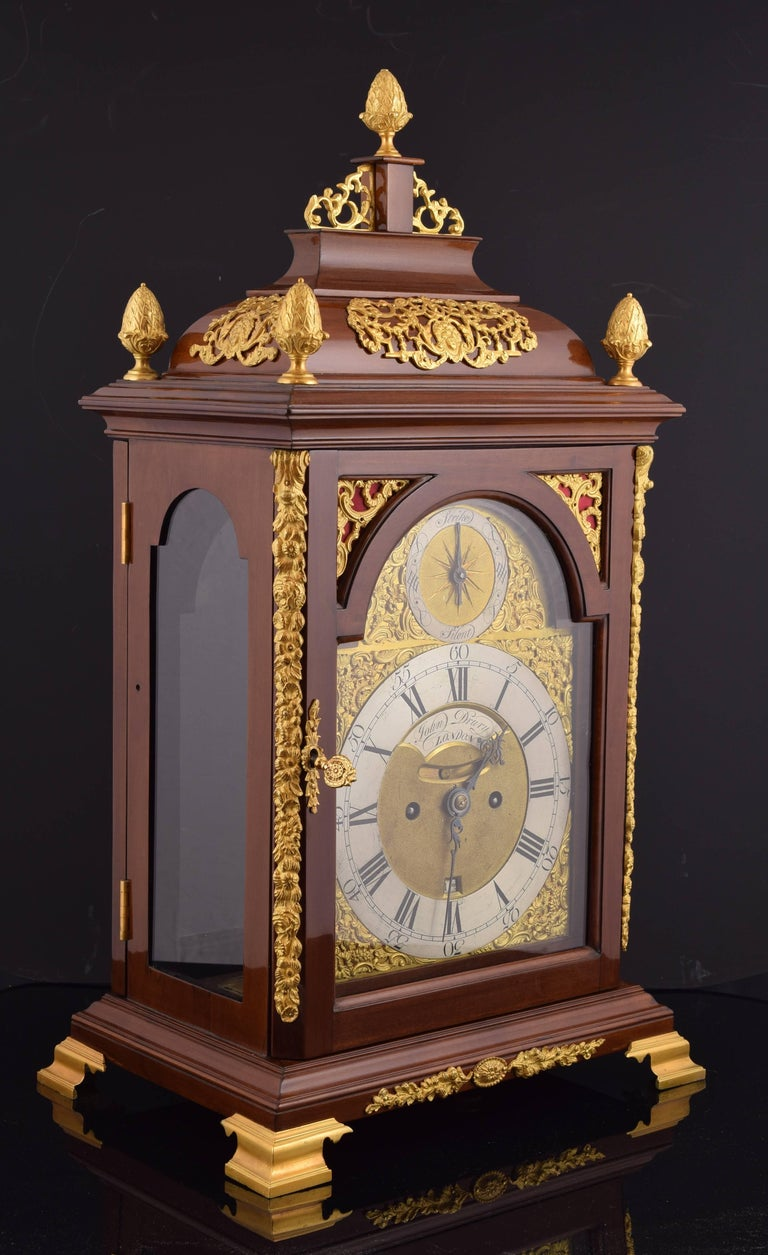 Baroque Desktop Bracket Clock, John Drury, London, 1720- 1774 For Sale