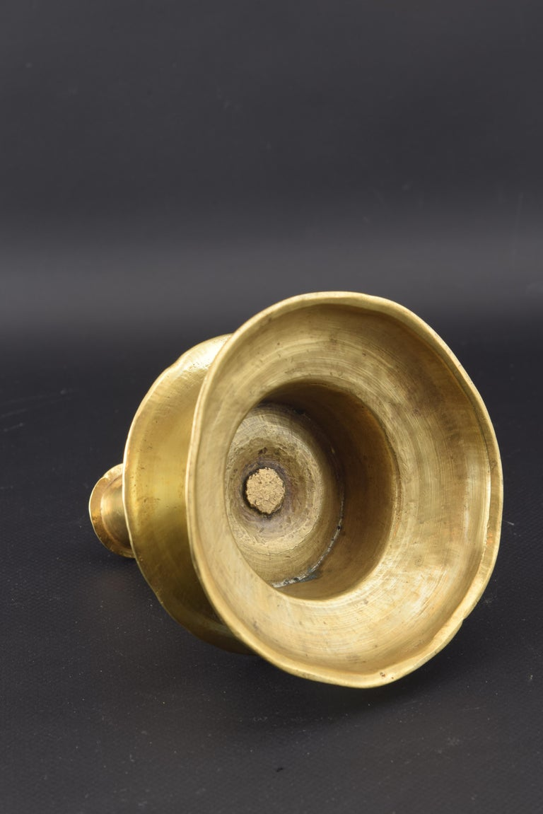 Baroque Bronze Candle Holder, 16th Century For Sale