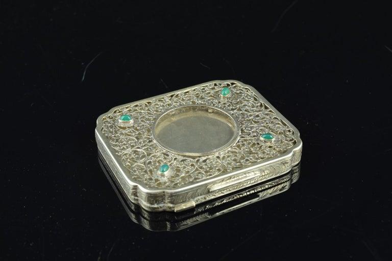 Openwork Silber Box, 19. Jahrhundert 11