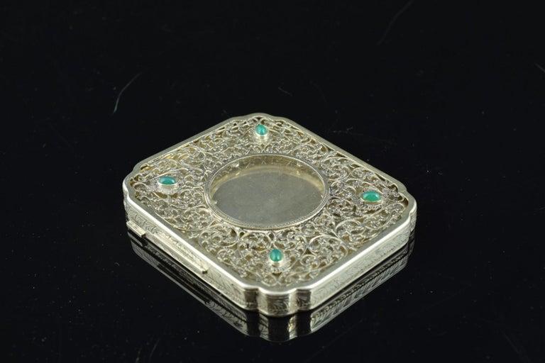 Openwork Silber Box, 19. Jahrhundert 12
