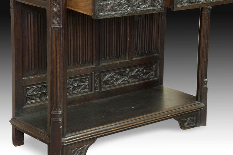Neogothic Cupboard, Oak, 19th Century For Sale 1