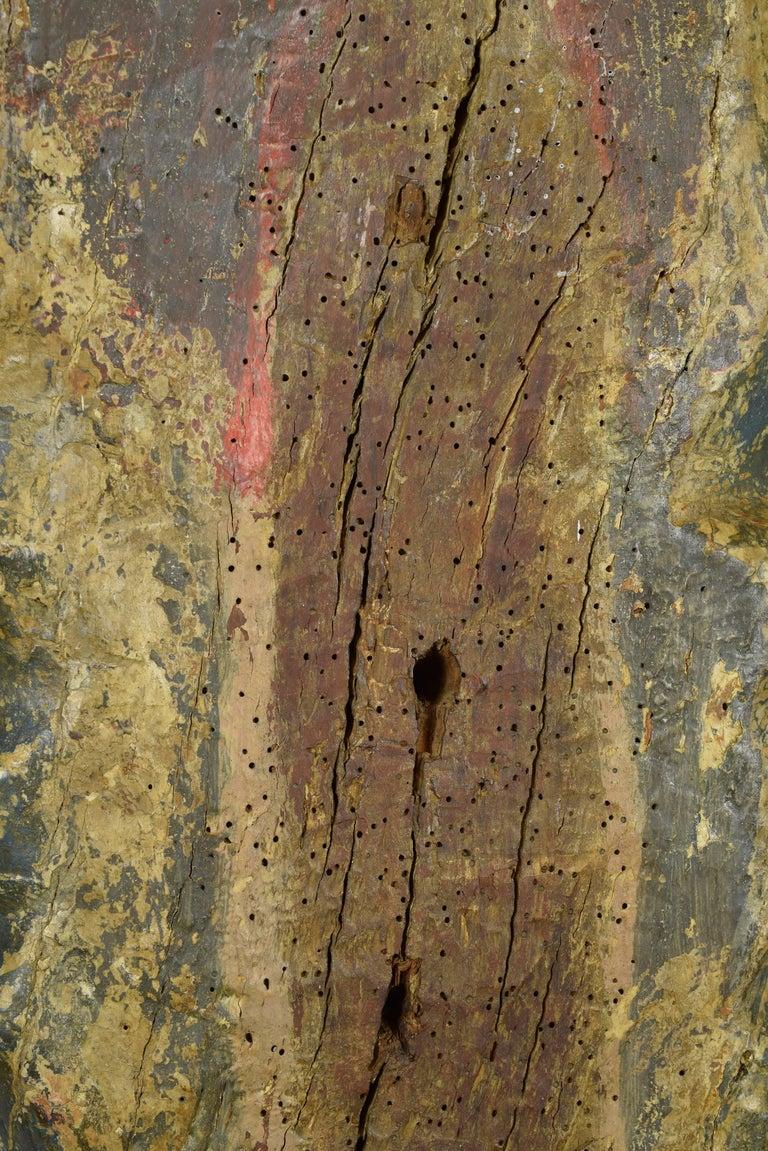 """Saint Blaise"". Wood. Castillian school, Spain, 14th century. In Good Condition For Sale In Madrid, ES"