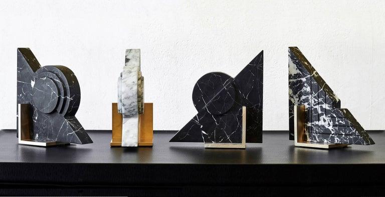 Australian Hemi Bookend in Black Marble For Sale
