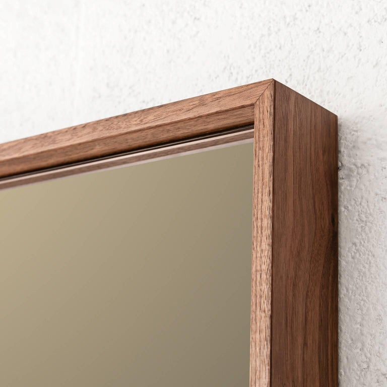 American 'Horizon' Contemporary Walnut with Bronze and Grey Mirror by Carbonell Design For Sale
