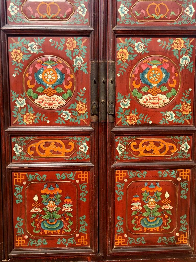 Large Antique Tibetan Cabinet At 1stdibs