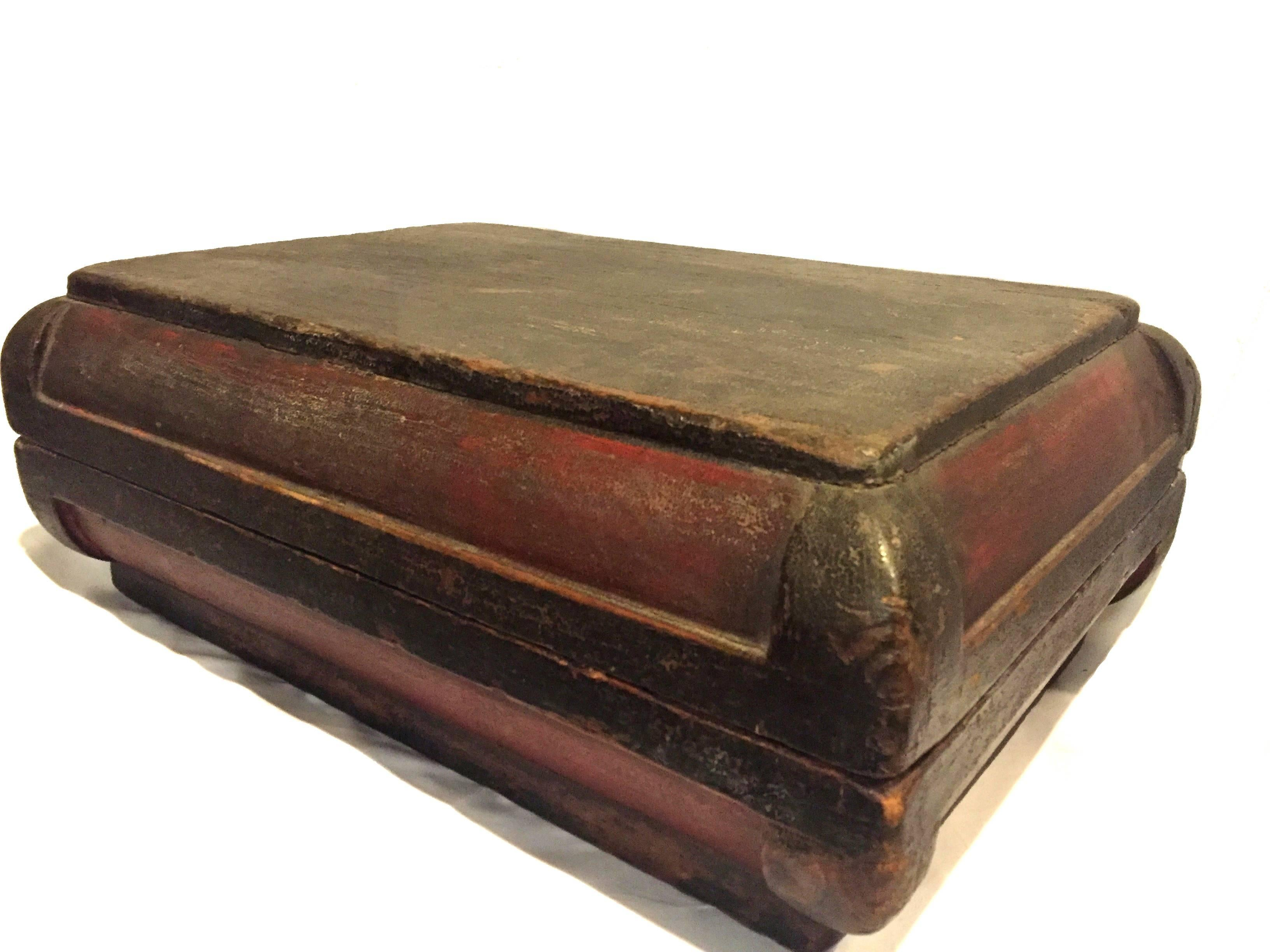 Genial 19th Century, Chinese Box, Document And Art Storage Box In Good Condition  For Sale