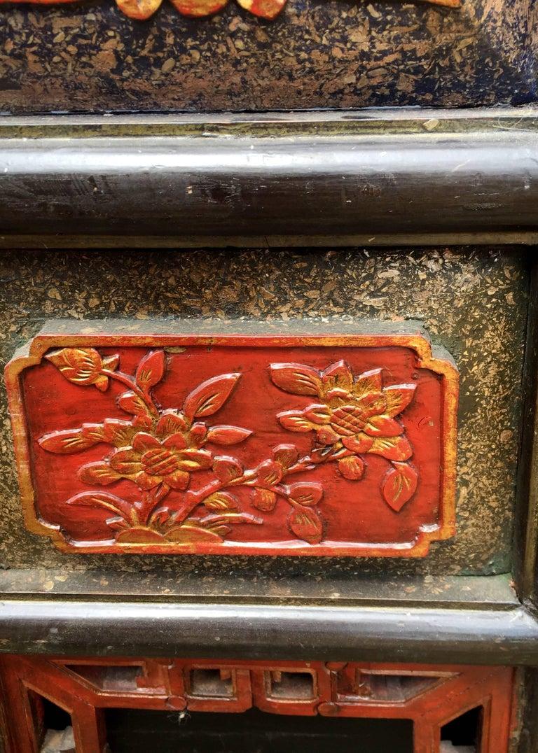 Pair Of Chinese Wedding Baskets Republic Era Ornate