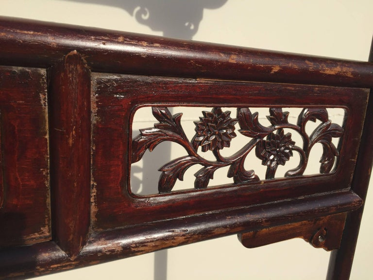 Chinese Antique Garment Rack, Clothes and Towel Rack, Finely Carved For Sale
