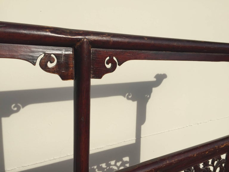 Hand-Carved Antique Garment Rack, Clothes and Towel Rack, Finely Carved For Sale