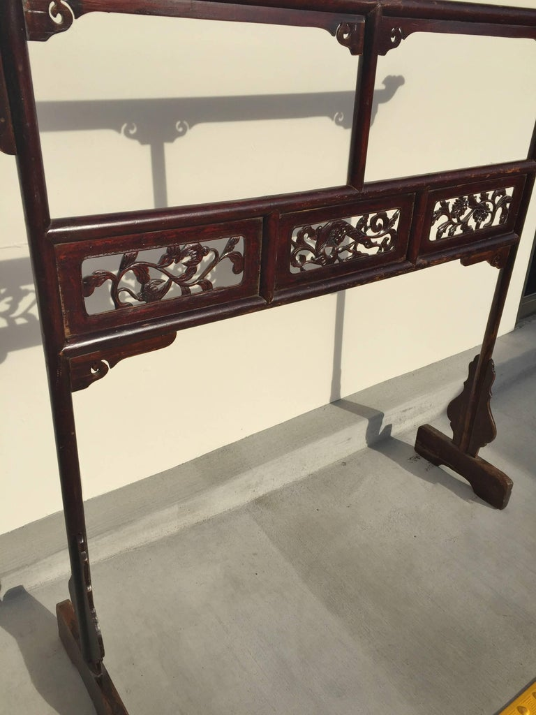 Antique Garment Rack, Clothes and Towel Rack, Finely Carved For Sale 1