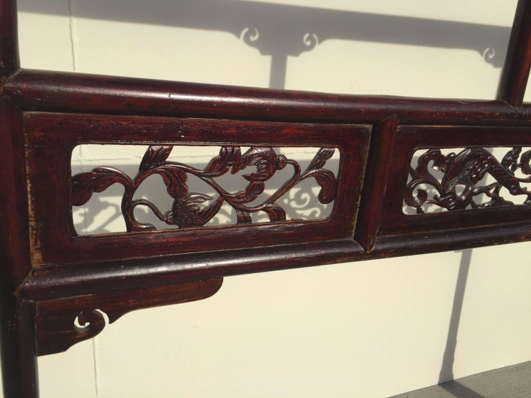 Antique Garment Rack, Clothes and Towel Rack, Finely Carved For Sale 2