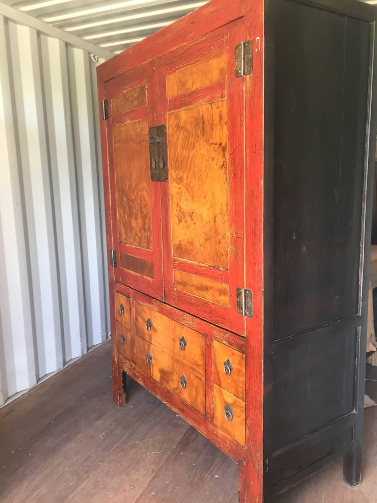 Large burl wood cabinet for sale at 1stdibs for Burl wood kitchen cabinets